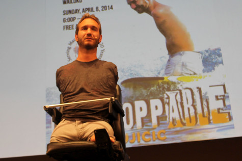 Nick Vujicic's story moves students