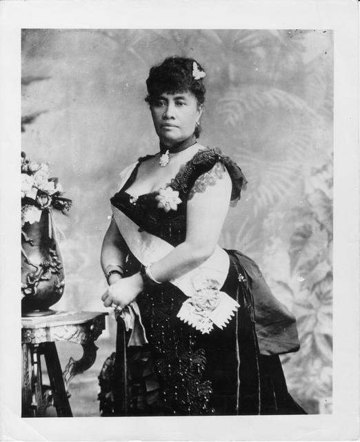 Queen Liliʻuokalani, born Lydia Liliʻu Loloku Walania  Wewehi Kamakaʻeha, Sept. 2, 1838. She was the last reigning monarch of the kingdom of Hawaiʻi, ruling from 1891-1893, when foreign interests staged a coup resulting in her abdication. She died on November 11, 1917.